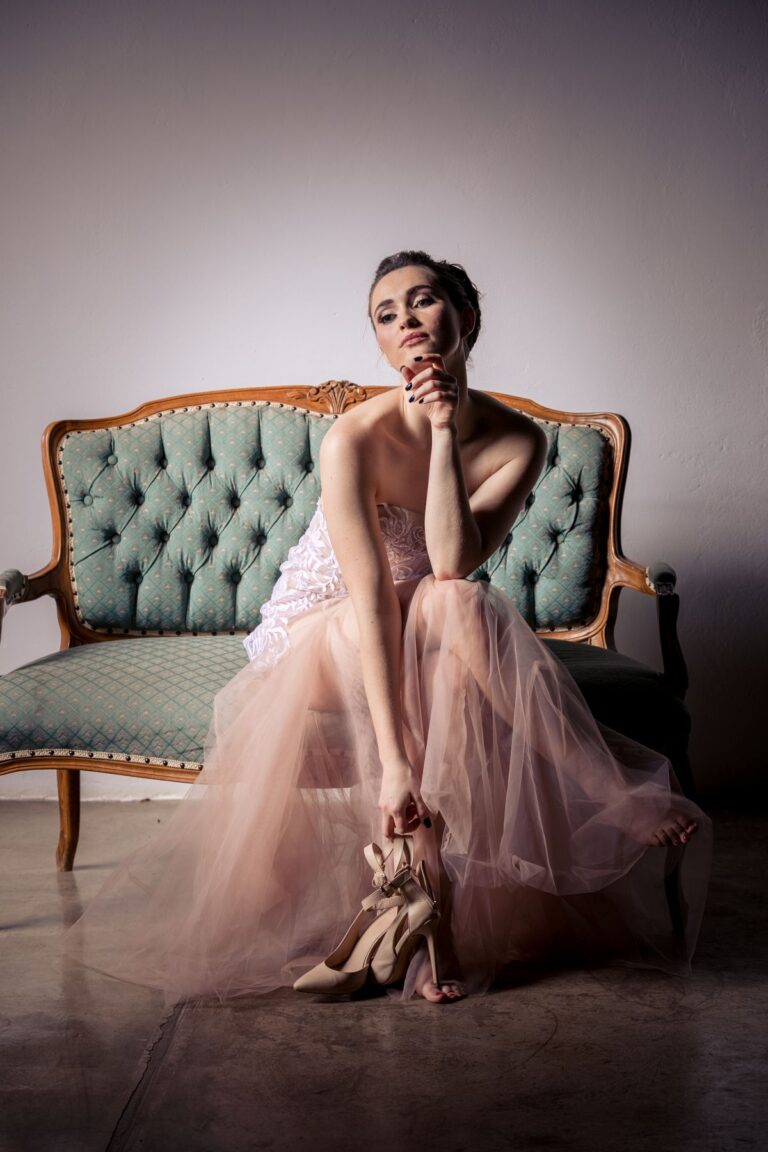 Amoné Bester Wedding Dress|Couture South Africa|Couture Wedding Gown|Blush Wedding Dress South Africa|Illusion Lace Wedding Dress