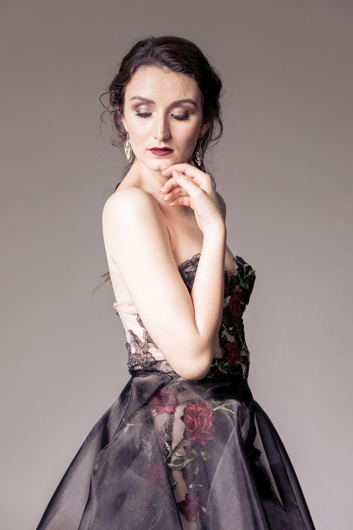 Amoné Bester Black Couture Dress|Couture South Africa|Black Couture Gown|Black And Red Dress South Africa|Black Lace Couture Dress